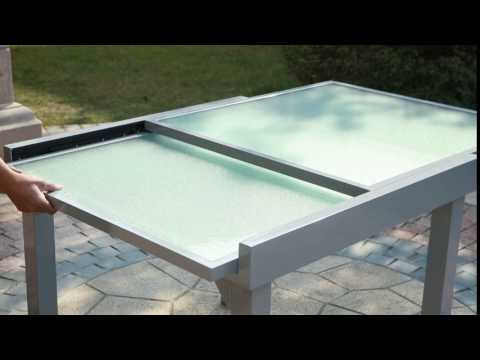 Table de jardin extensible Molvina - Concept Usine - YouTube