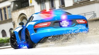 This police car is FUN in the snow!! (GTA 5 Mods - LSPDFR Gameplay)