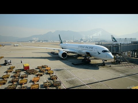 Economy Class | Cathay Pacific CX123 Hong Kong to Christchurch Airbus A350-900 (Review#34)