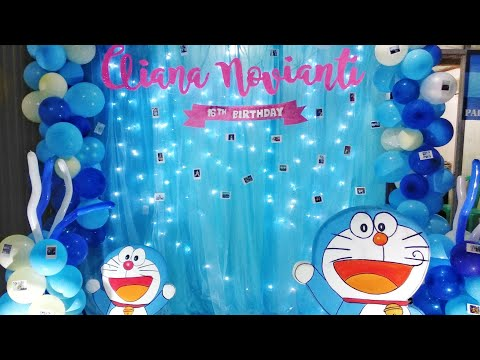 Doraemon Birthday Decoration For Sweet 17th Youtube