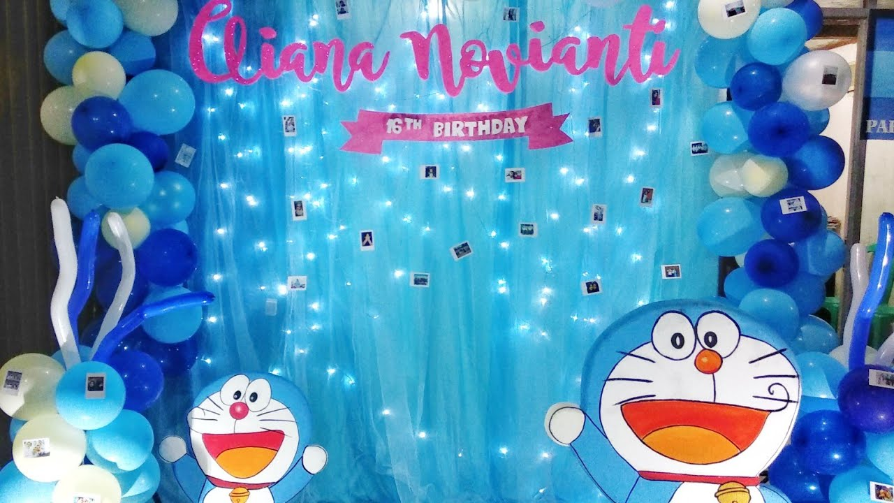 Doraemon Birthday Decoration For Sweet 17th