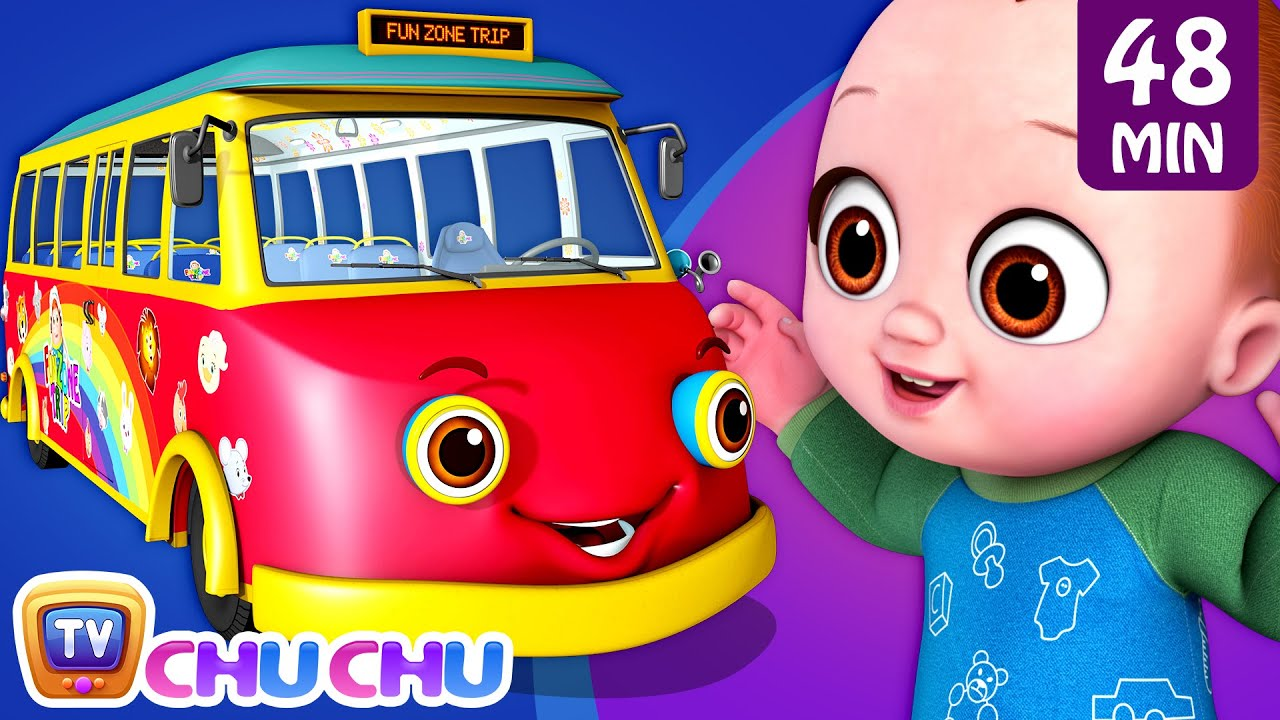 Wheels on the Bus Song - Baby Starts Crying + More ChuChu TV 3D Baby Nursery Rhymes and Kids Songs