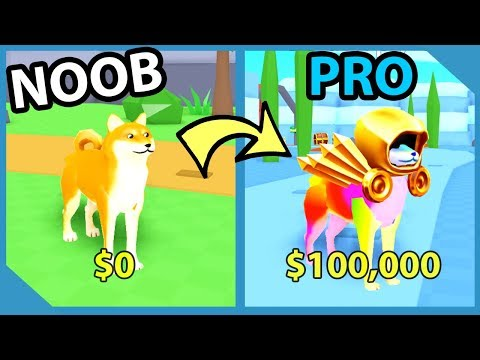 Noob To Pro! Legendary Dominus Hat! Richest Doge! - Roblox Doge Simulator