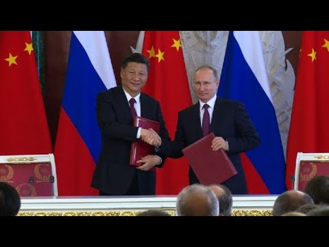 Chinese president Xi Jinping meets Vladimir Putin in Moscow