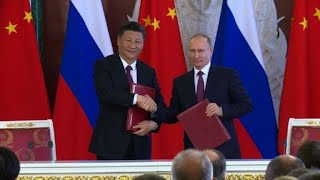From youtube.com: Chinese president Xi Jinping meets Vladimir Putin in Moscow Chinese president Xi Jinping is in Moscow for talks with his Russian counterpart Vladimir Putin. IMAGES. {MID-327219}