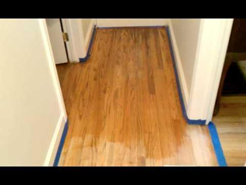 Golden Pecan Min Wax Stain For Floor Youtube