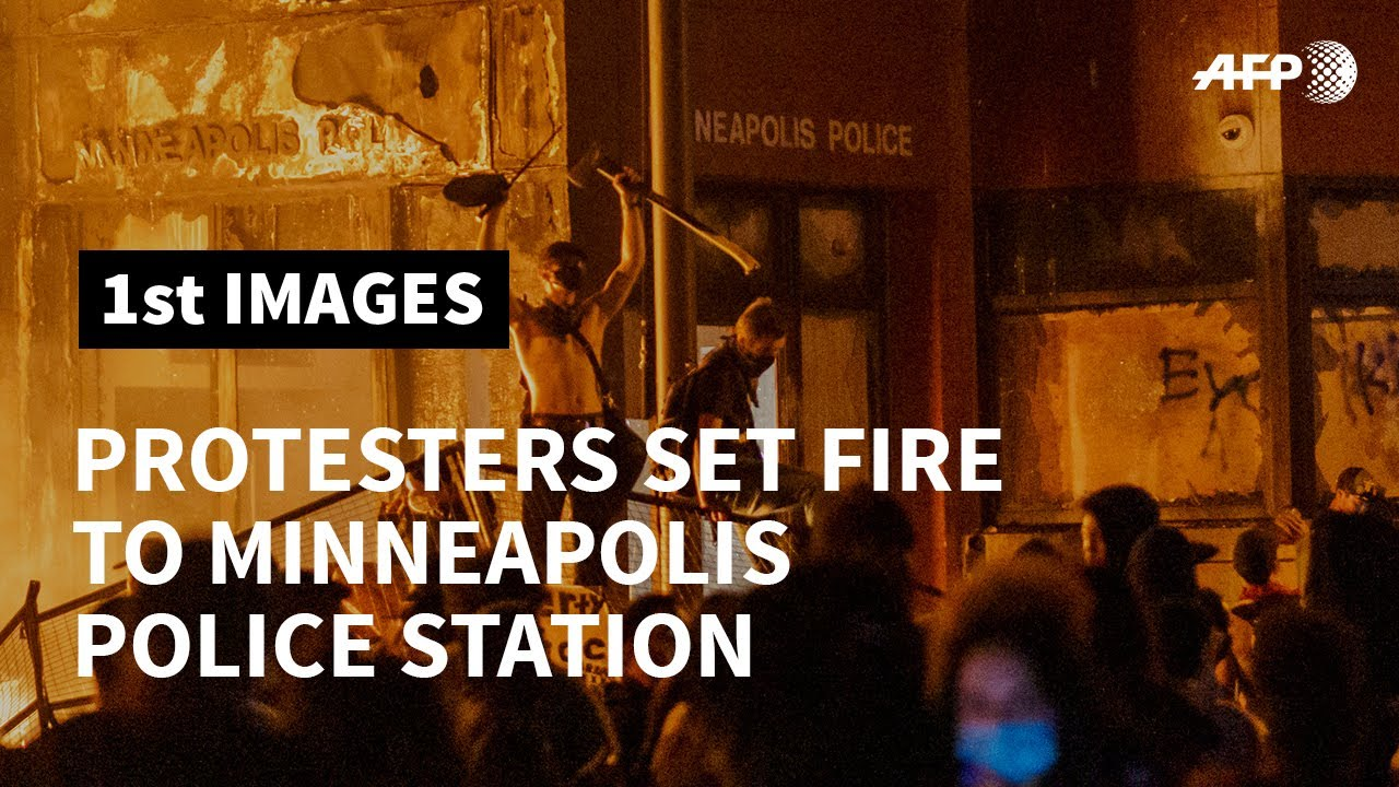 Protesters set Minneapolis police station ablaze