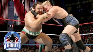 Jack Swagger vs. Rusev – Boot Camp Match: WWE Tribute to the Troops 2015
