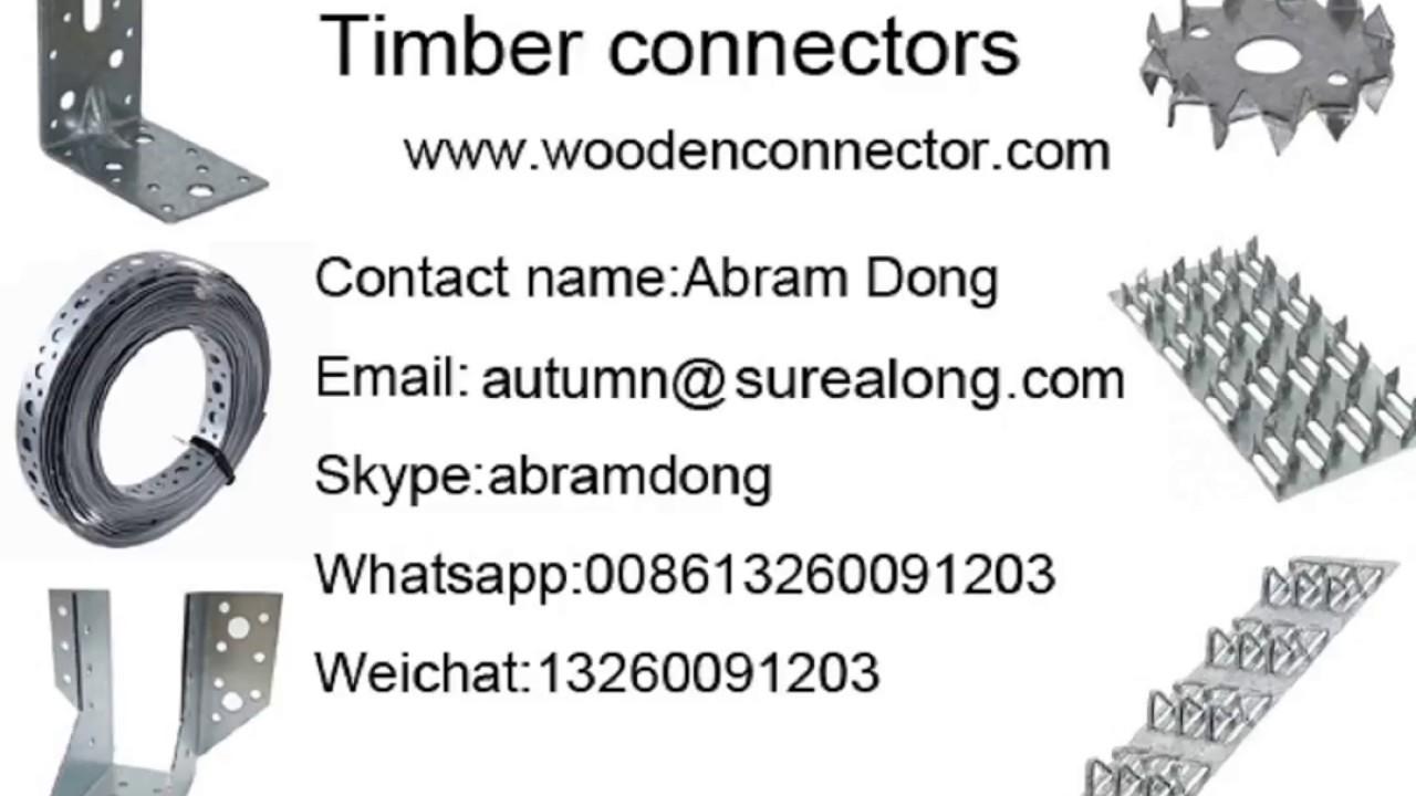 timber frame brackets - YouTube
