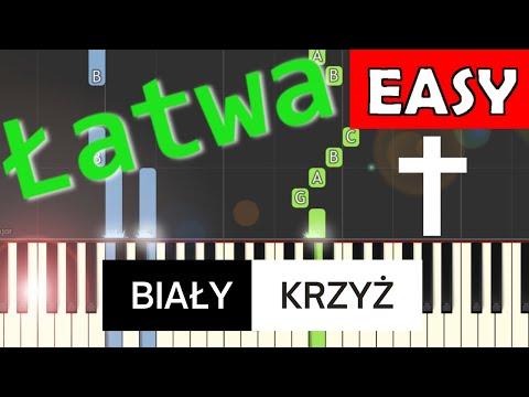 🎹 Biały Krzyż (Czerwone Gitary) - Piano Tutorial (łatwa wersja) 🎹