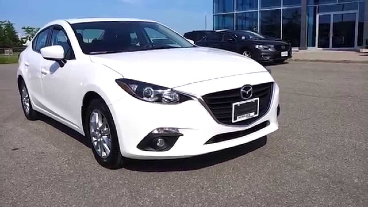 2014 Mazda3 Gs Model In Snowflake White Youtube
