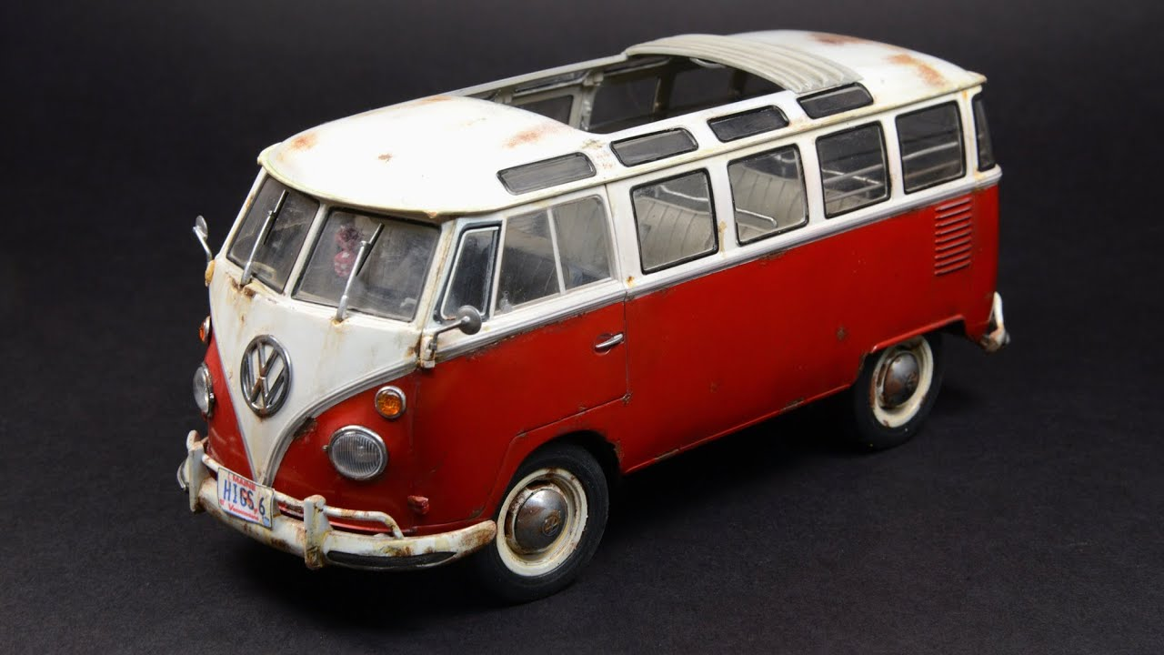 revell 1 24 vw samba bus t1 youtube