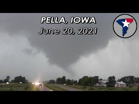Father's Day 2021 Tornado in Pella, Iowa / Damage & Time Lapse