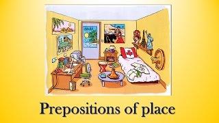 Предлоги места в английском языке для детей - Prepositions of place