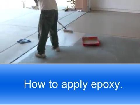 Garage Floor Epoxy: How To Apply Rust Oleum Garage Floor Epoxy