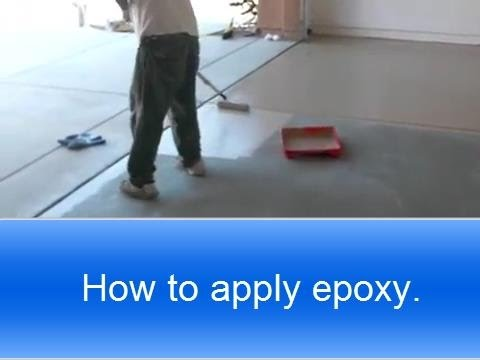 how to apply rust oleum garage floor epoxy. - youtube