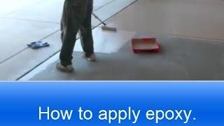 how to apply rust oleum garage floor epoxy