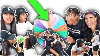 SPIN THE MYSTERY WHEEL Challenge Ft JAZZ AND TAE!!! **HILARIOUS**
