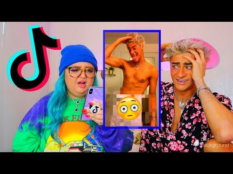 REACTING TO MY BOYFRIENDS PRIVATE TIK TOKS *GONE WRONG*