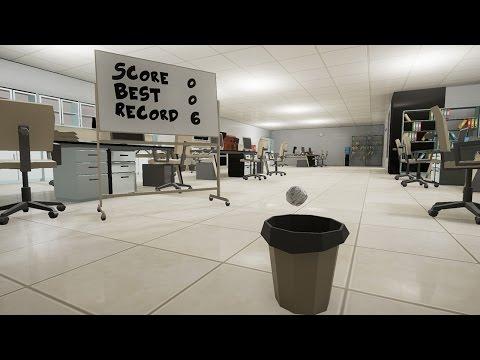 Paper Toss VR - Steam Game Trailer
