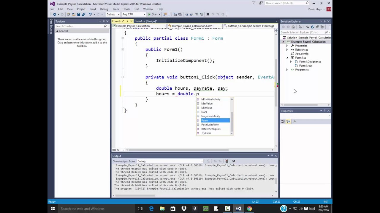 c programming example payroll example if else boolean testing