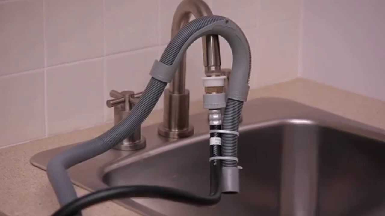 Connecting To A Sink   Haier HLPW028AXW Top Load Compact Washer   YouTube