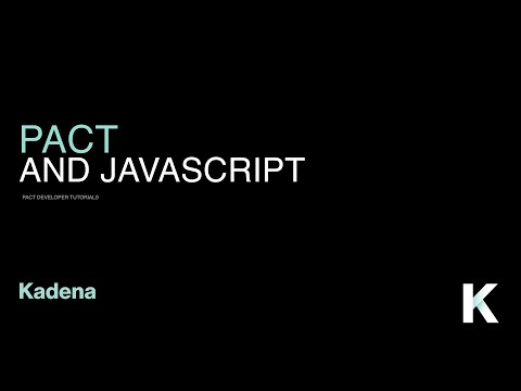2  Pact and Javascript - Pact Developer Tutorials