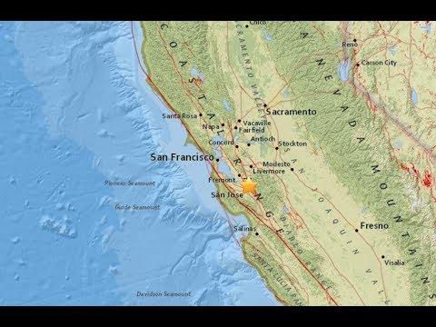 Earthquake shakes near downtown San Jose-Six Small Earthquakes Shake East San Jose