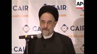 Former Iranian president addresses American  Muslim group