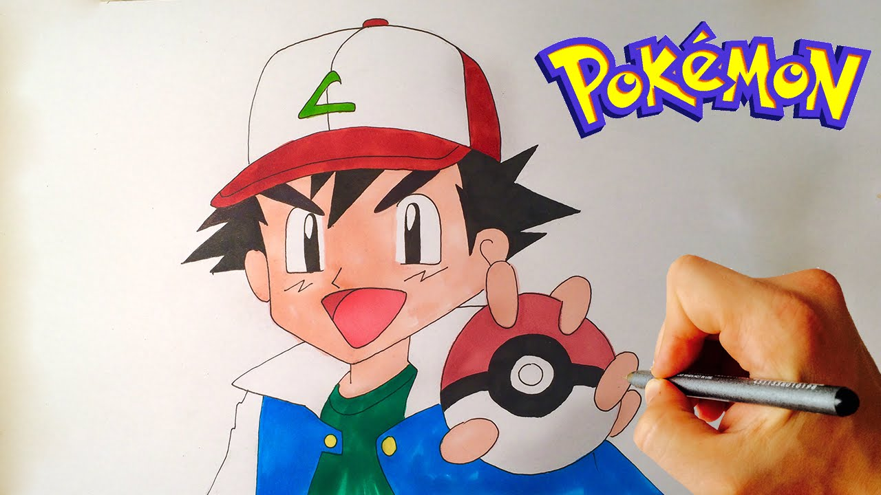 Uncategorized How To Draw Ash From Pokemon how to draw ash ketchum from pokemon drawing lesson youtube