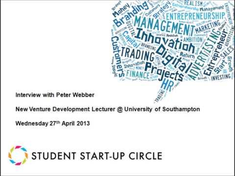 Peter Webber  Student Entrepreneurship
