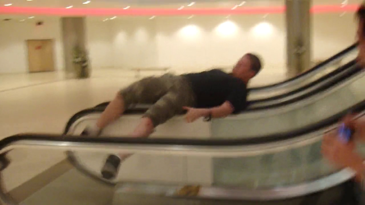Download Doing the escalator spin and breaking the escalator