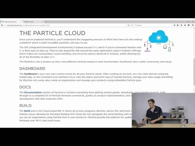 Welcome to Particle io - Tutorial Australia