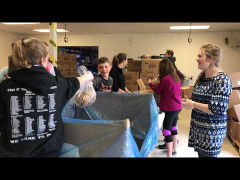 Robert J Elkington Middle School Repacking Cereal and Crackers