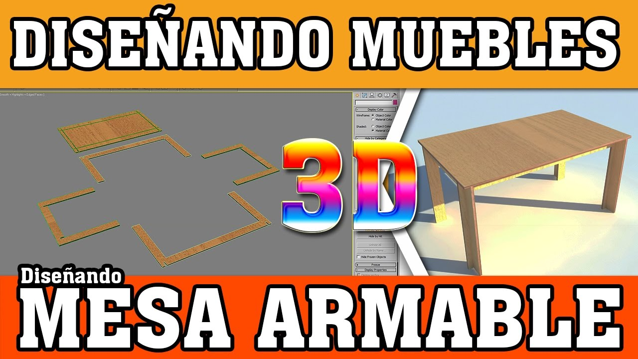 Dise ando mesa armable dise a tus muebles en 3d youtube for Disenando muebles