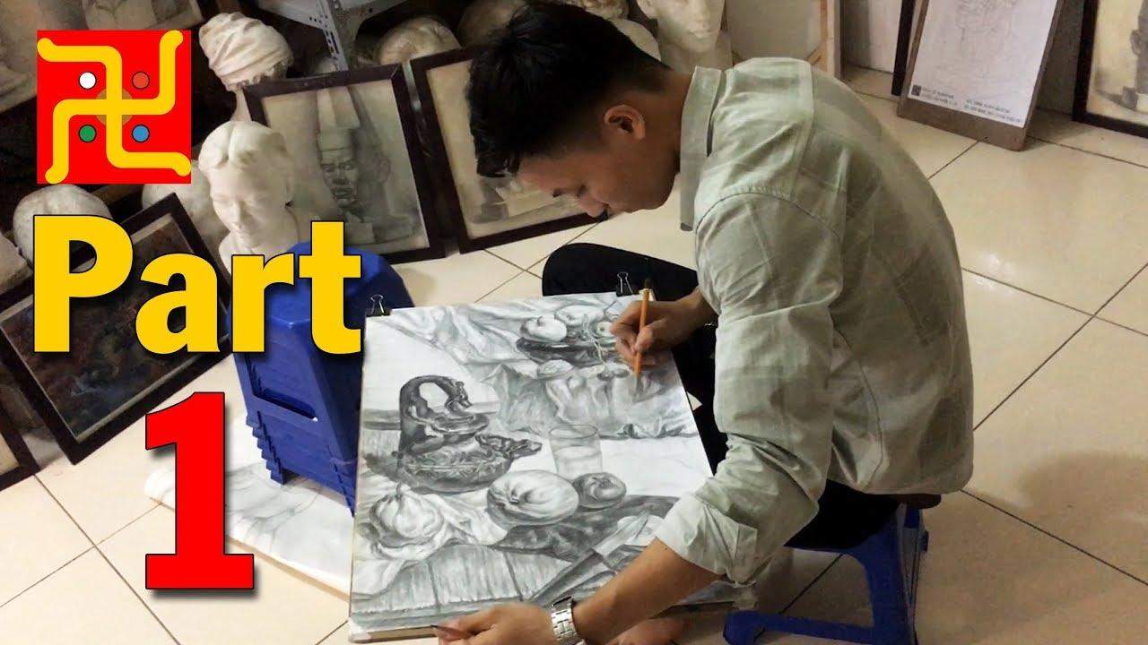 Bài vẽ Tĩnh Vật của cựu học viên Nguyễn Dũng – Sinh viên năm 1 của Trường ĐH KTHN [Part 1]
