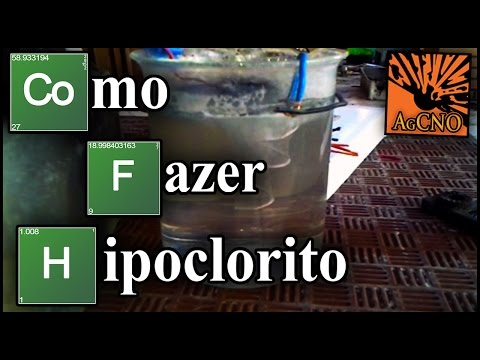 Como Fazer Hipoclorito de Sódio - Via Eletrólise