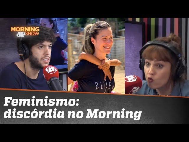 Caio Coppolla e Paula Carvalho discordam sobre posicionamento de DJ crítica ao feminismo