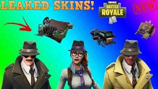 *NEW* ALL LEAKED DETECTIVE SKINS WITH 3D PREVIEW | FORTNITE BATTLE ROYALE !