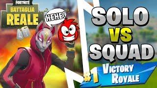 SOLO VS SQUAD VITTORIA REALE ⛏️ Fortnite Battle Royale - Pazzox