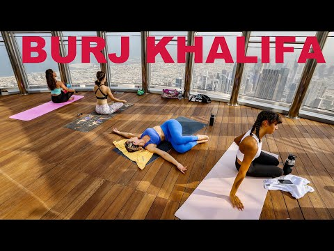 YOGA AT THE TOP OF BURJ KHALIFA #msajjad #2020