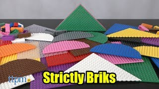 Strictly Briks 6-inch Stackable Shape Rainbow Colors 36-Pack from Strictly Briks