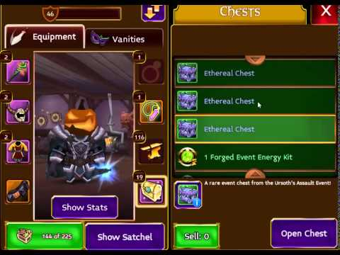 Arcane Legends - Ursoth 2015! - 10 Ethereal Chests & 5 Leafy Chests