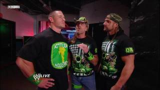 John Cena and DX talk backstage