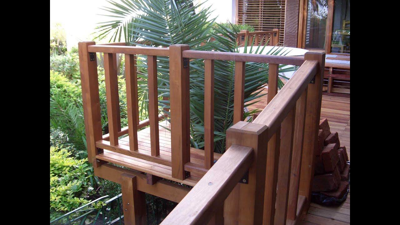 Barandas de madera del muebles de madera buenos aires argentina youtube - Baranda de madera ...