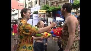 Getting wet during Songkran 2557