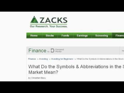 What Do The Extensions Mean On Ticker Symbols?