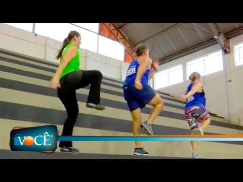 Por Você - Atividade física na escada 14/05/16
