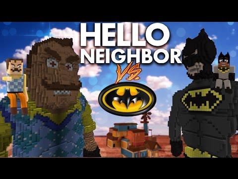 Minecraft Hello Neighbor - Giga Batman vs Giga Neighbor (minecraft Roleplay)