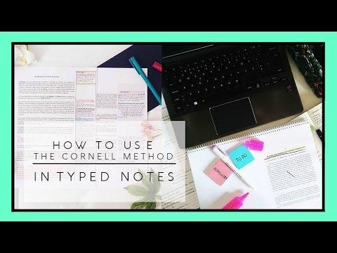 The Cornell Method in Typed Notes // 2 Minute Study Tips